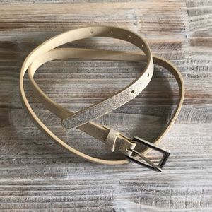 Accessories - Slim Gold Shimmer Belt